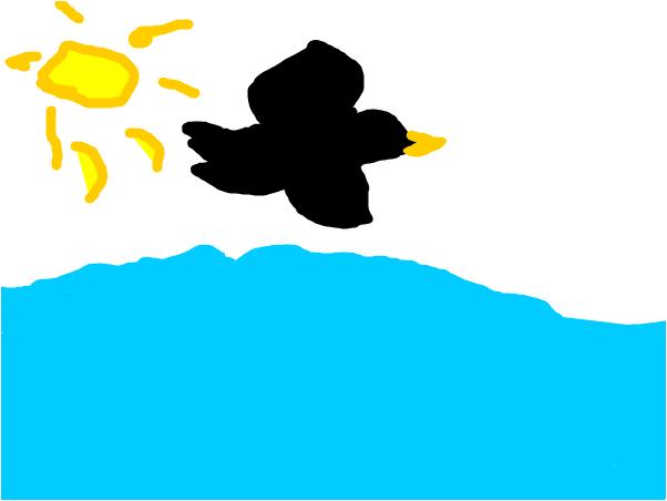 Bird On Sea