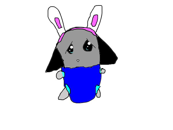 Baby me with bunny headband