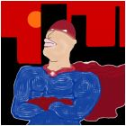 super city dude hero guy person