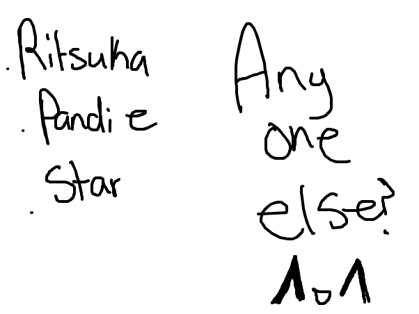 Anyone others than Ritsuka Star and Pandie