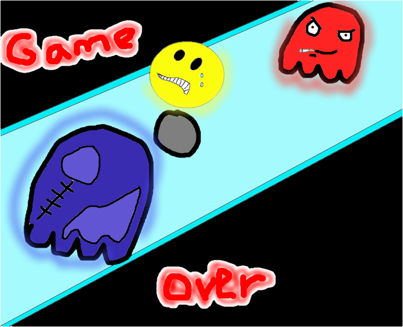 game over pac man