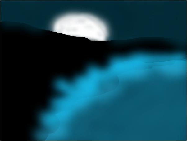night time ocean