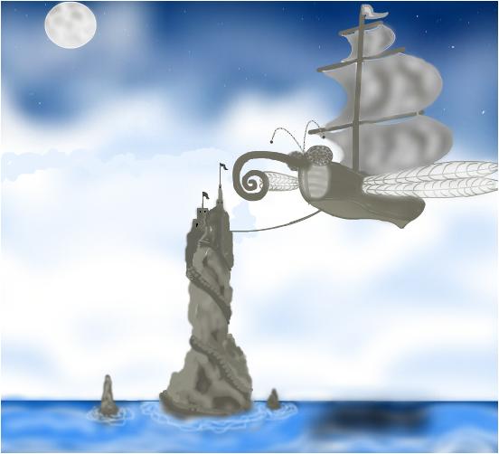 dragon fly boat castle