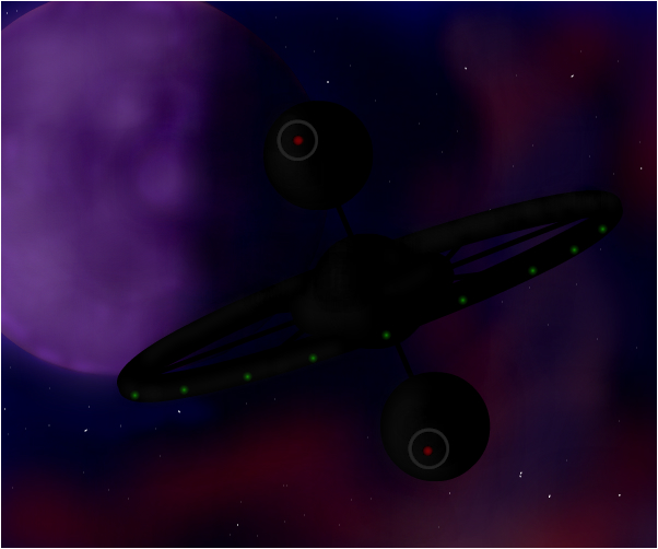 space station Dark Star orbits Planet Caravan