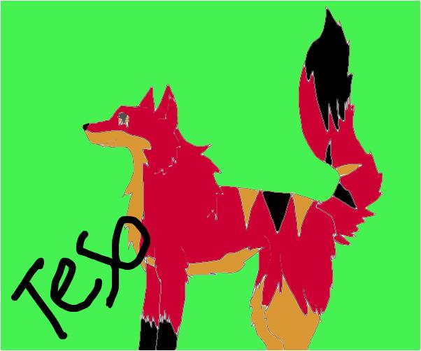 Teso fire wolf