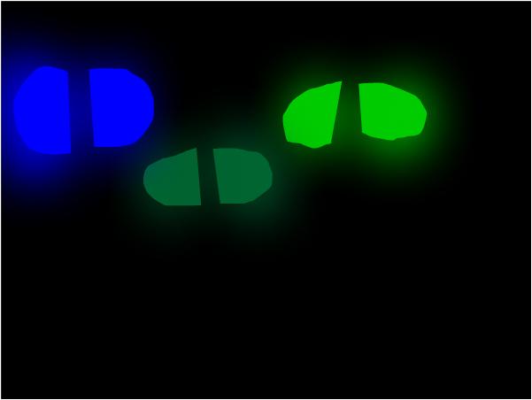 3 people in tha dark
