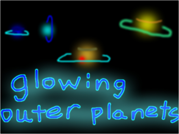 glowing outer planets