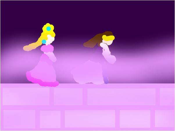 Zelda & Peach game ''Zelda's Castle Clouds''