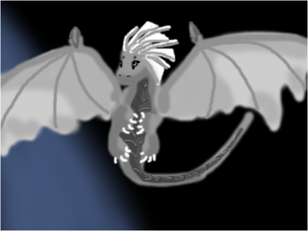 silver winged dragon!
