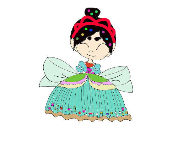 vanellope's new dress