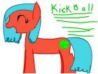 my sis's OC, Kickball