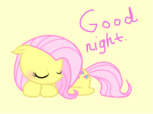 Fluttershy tis sleepy