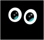 Sad eyes in the dark