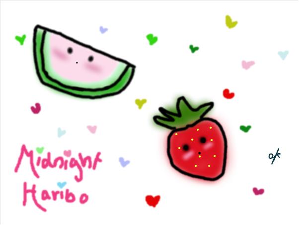 midnight haribo background