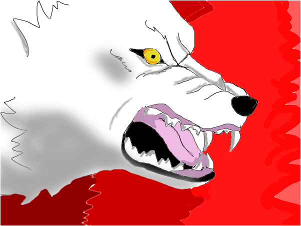 Kiba from wolf's rain snarling