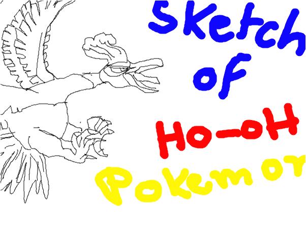 Ho-oH pokemon sketch