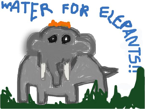 An elehpant which I drawded