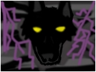 black wolf purple lightning
