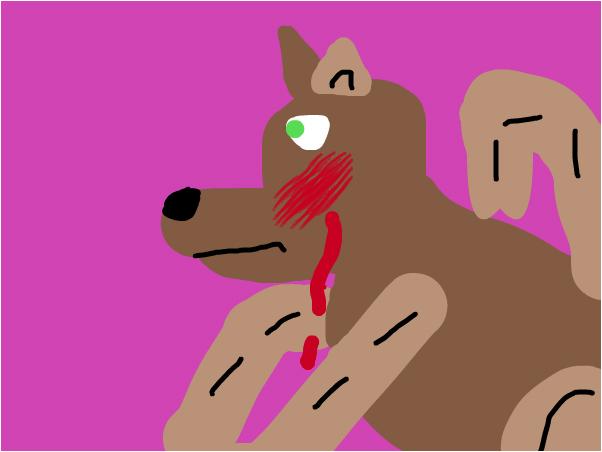 wolf bleeden