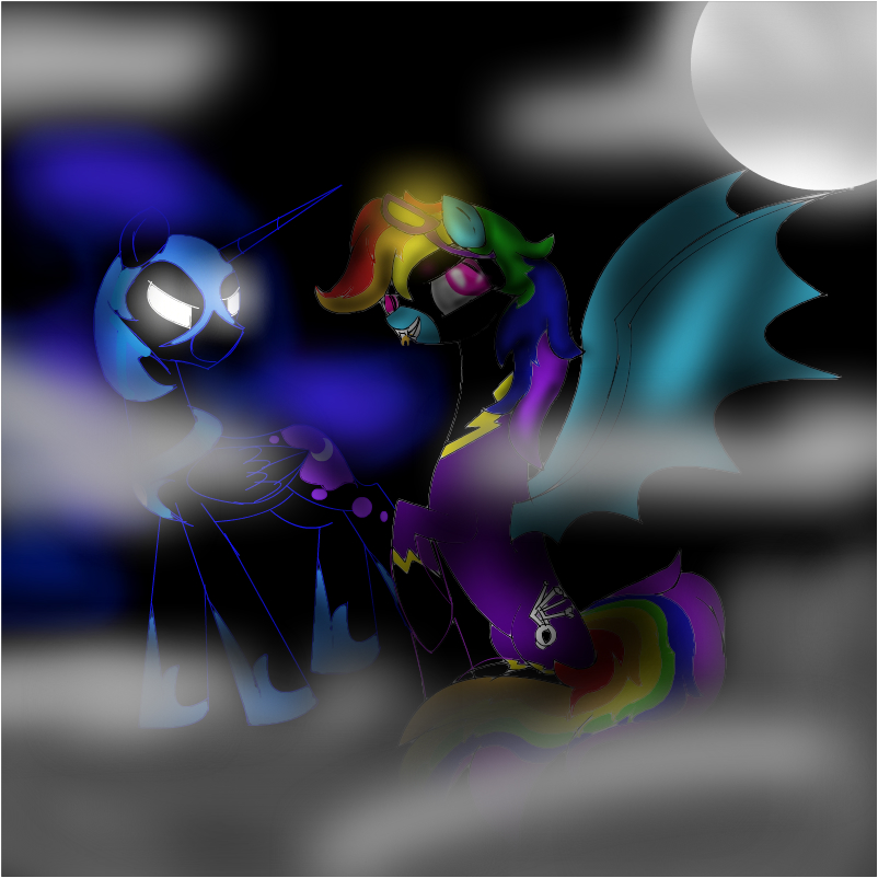 shadowbolt rainbow dash and nightmare