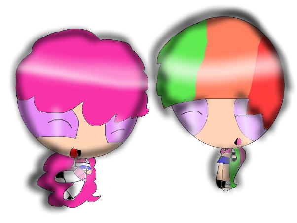 rainbow dash and pinkie
