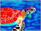 red shelled turtle