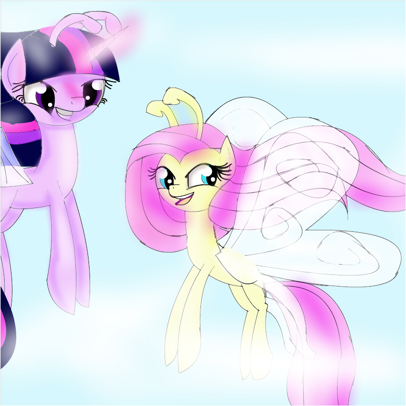 twilight and fluttershy as breezies