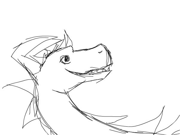 random dragon scetch