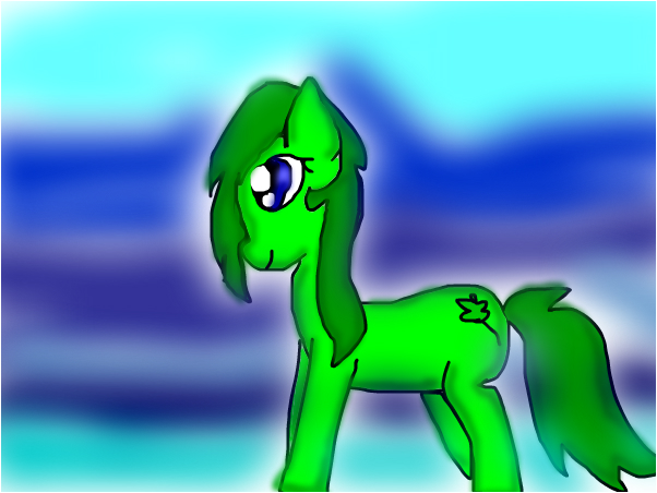 Leafie as a pony :D