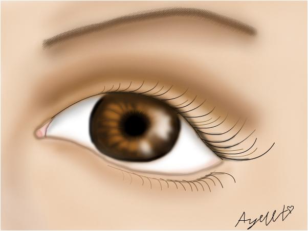 bown eye..