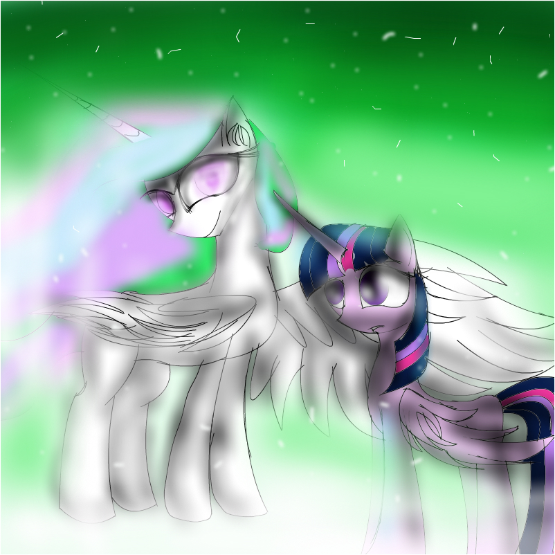 twilight sparkle and princess celestia