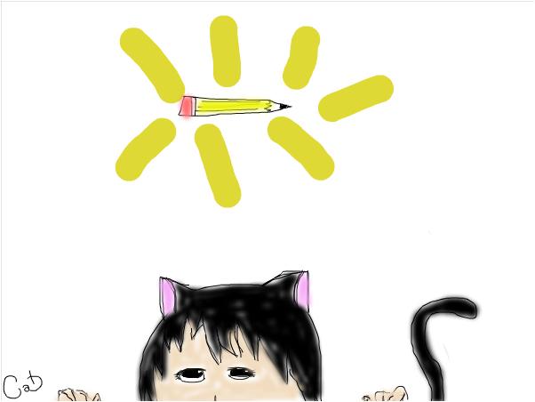 Catcantholdapencil