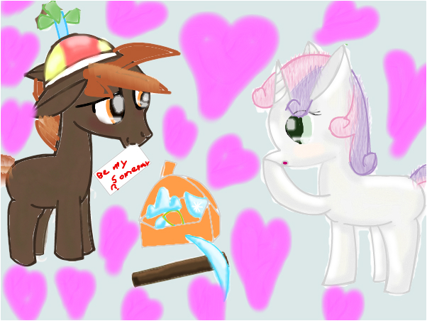 button x sweetie belle on hearts and hooves day