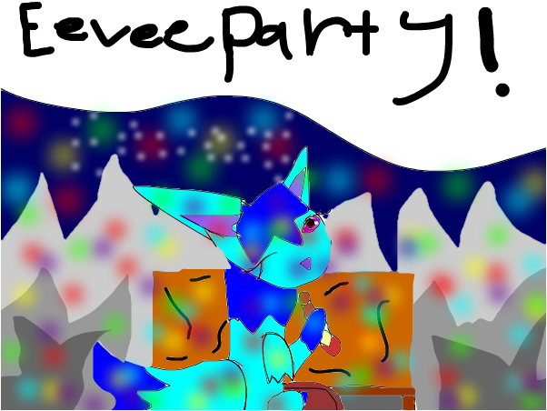 ice. eevee party!