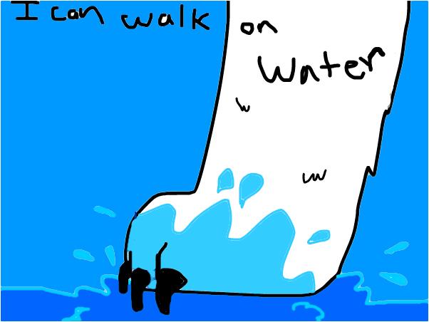 wlk on water