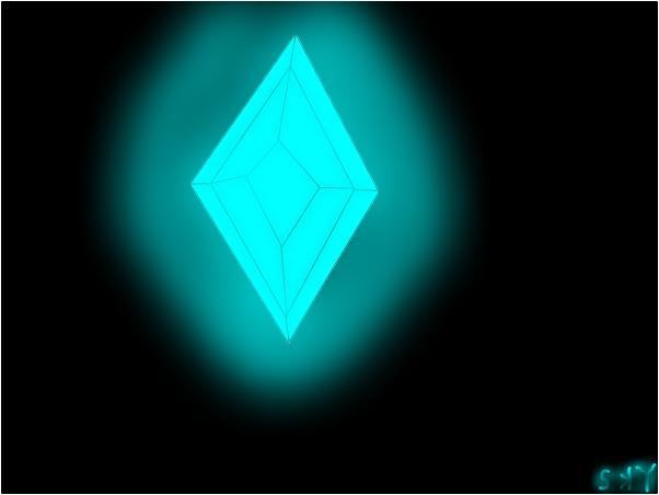Blue dimaond glow