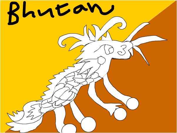 Bhutans flag!