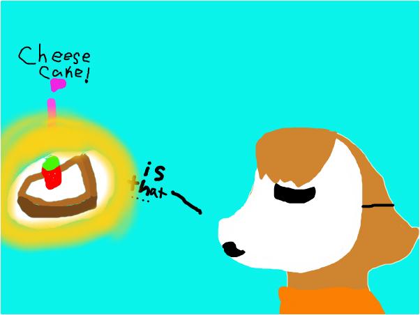 Masky loves cheesecake!