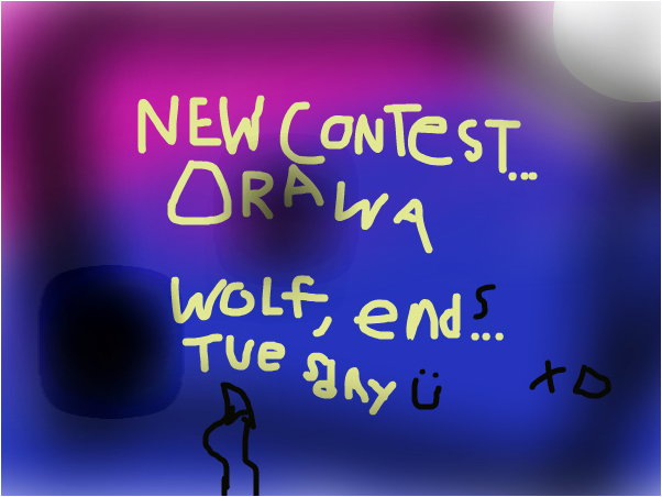 New contest: Draw a wolf!