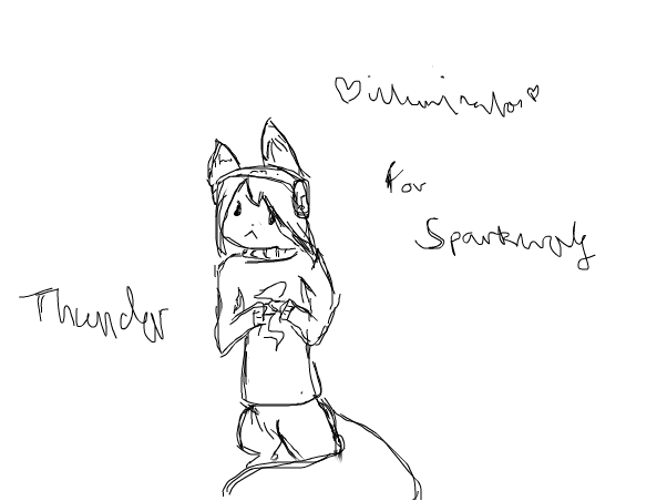 for sparkwolf: Thunder (request)
