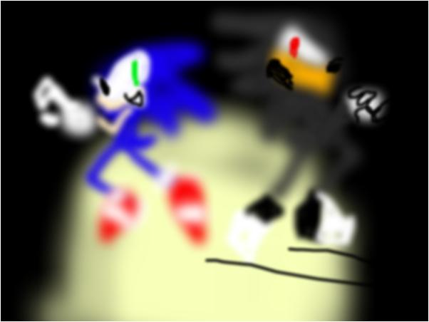 sonic vs shadow (SA2)