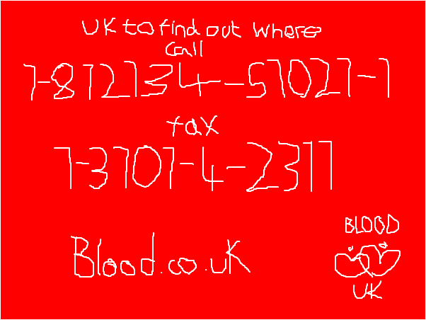 give blood advert uk and ire.