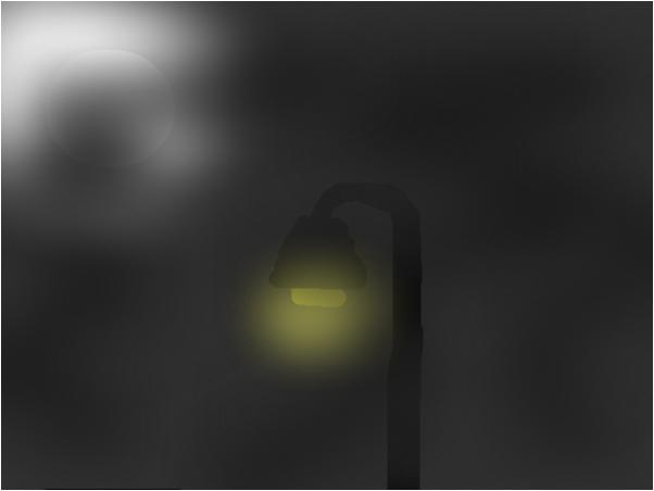 streat lamp in the fog