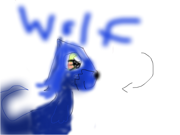 How i drew a wolf