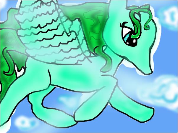 Emerald the unicorn
