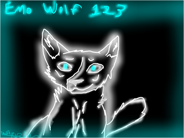 redraw~for emo wolf~warrior