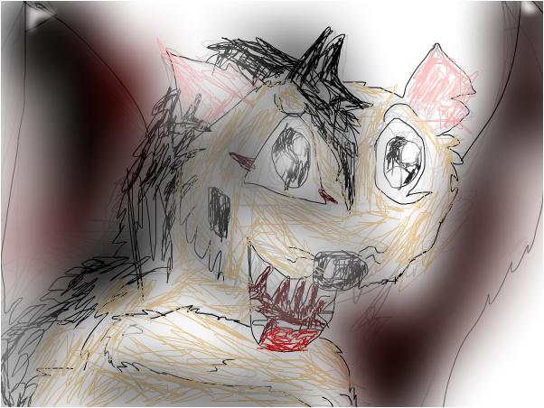 Sketch #1: Flying hyena