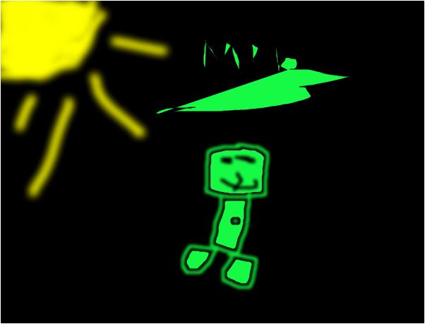 Fail minecraft creeper drawing XD