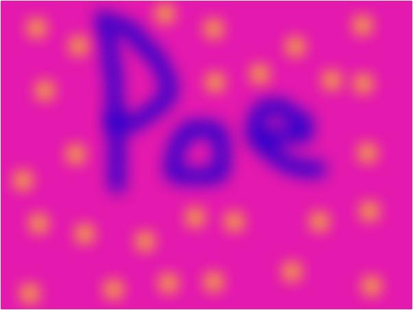 poe in shinny stars