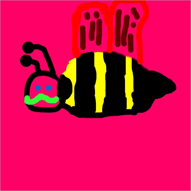 Mustache Bee